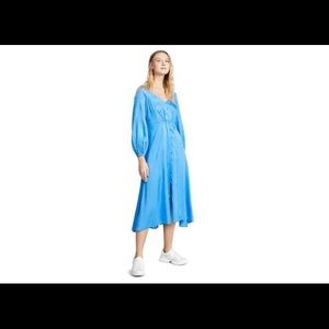 Free People Blue Flowy Later Days Midi Dress